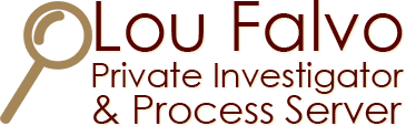 Lou Falvo Private Investigator & Process Server, Logo